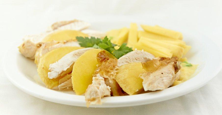 Chicken and Mango at Kalliopi Kitchen Greek food blog